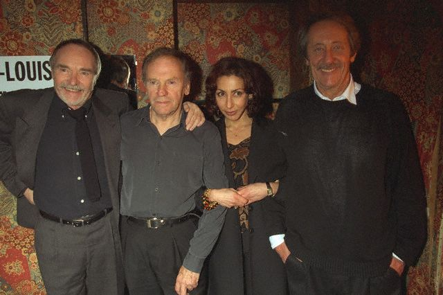 Les trois acteurs avec Yasmina Réza